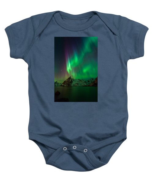 Curtains Of Light Baby Onesie