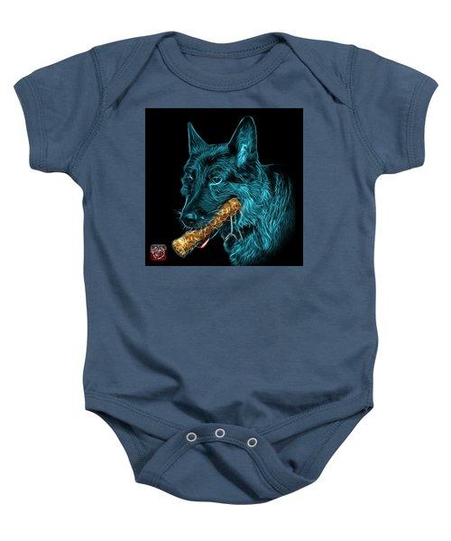 Cyan German Shepherd And Toy - 0745 F Baby Onesie