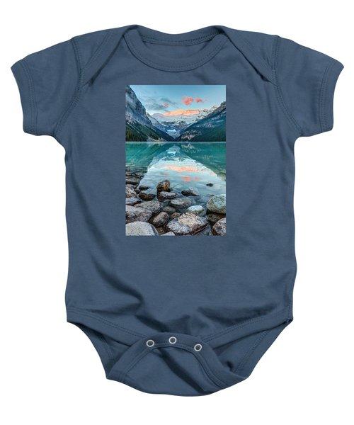Dawn At Lake Louise Baby Onesie