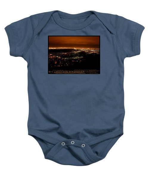 Denver Area At Night From Lookout Mountain Baby Onesie