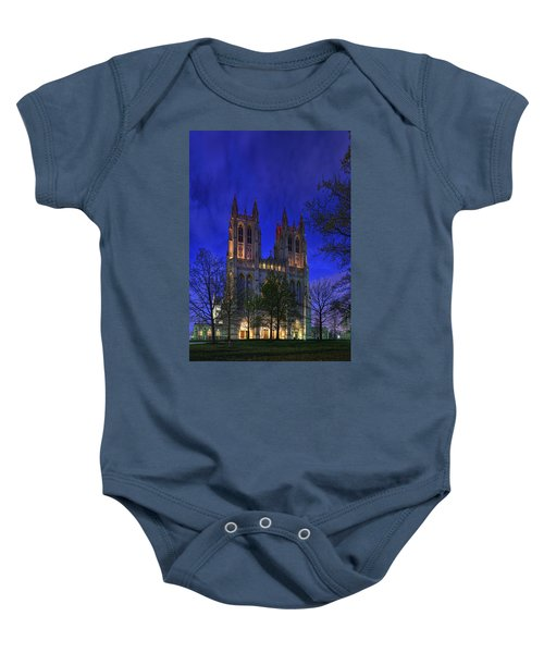 Digital Liquid - Washington National Cathedral After Sunset Baby Onesie