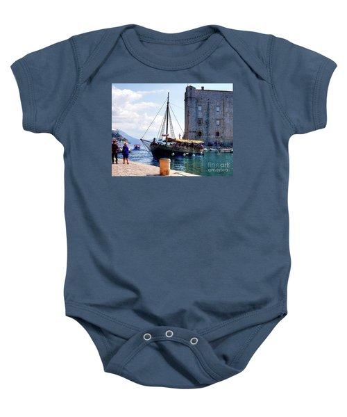 Docking In Dubrovnik Harbour Baby Onesie