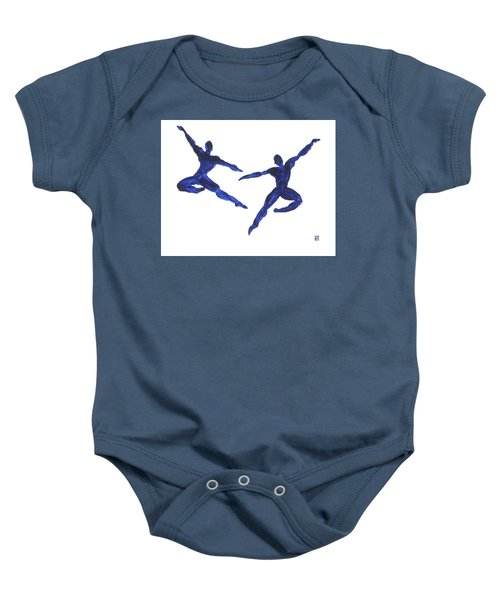 Duo Leap Blue Baby Onesie