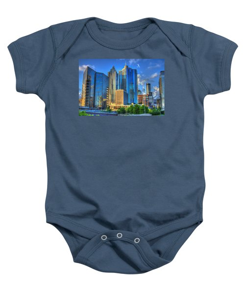 Dynamic Reflections Downtown Atlanta Georgia Art Baby Onesie