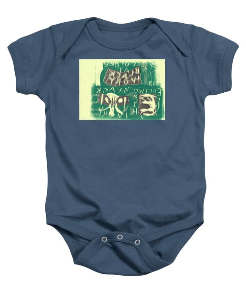 E Cd Grey And Green Baby Onesie