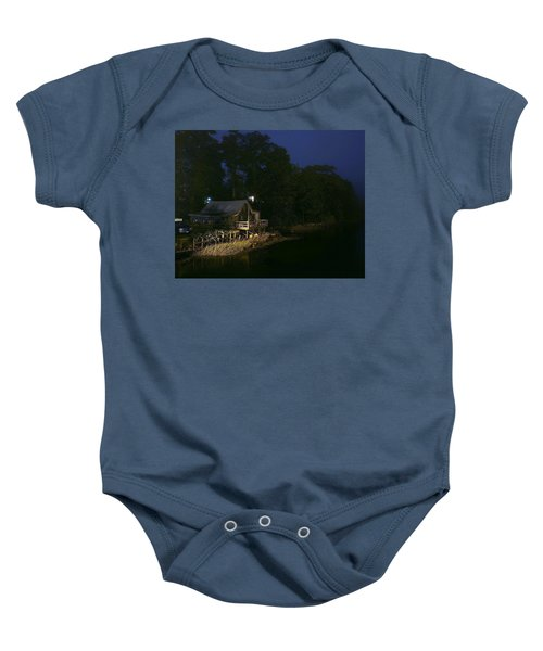 Early Morning On The River Baby Onesie