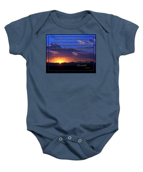 Easter Sunrise - He Is Risen Baby Onesie