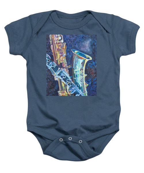 Electric Reeds Baby Onesie
