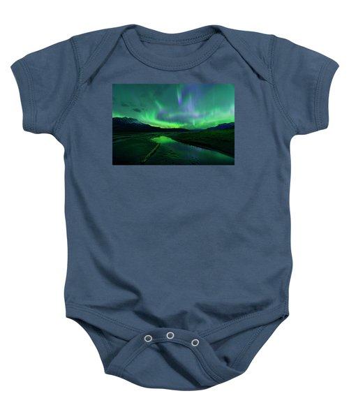 Electric Skies Over Jasper National Park Baby Onesie