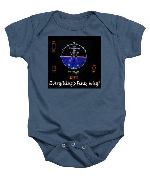Everything Is Fine Baby Onesie