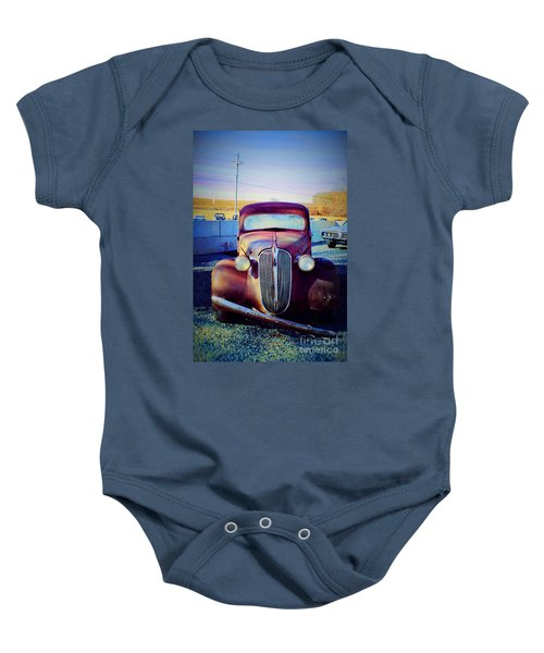 Facelift Wanted Car Baby Onesie