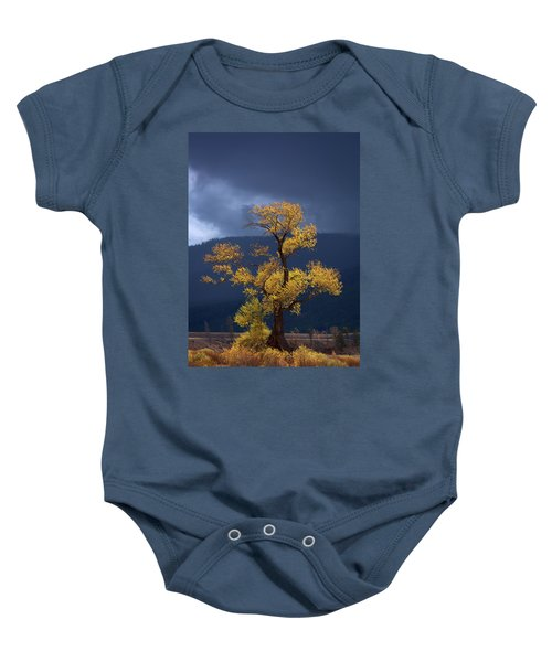 Facing The Storm Baby Onesie by Edgars Erglis
