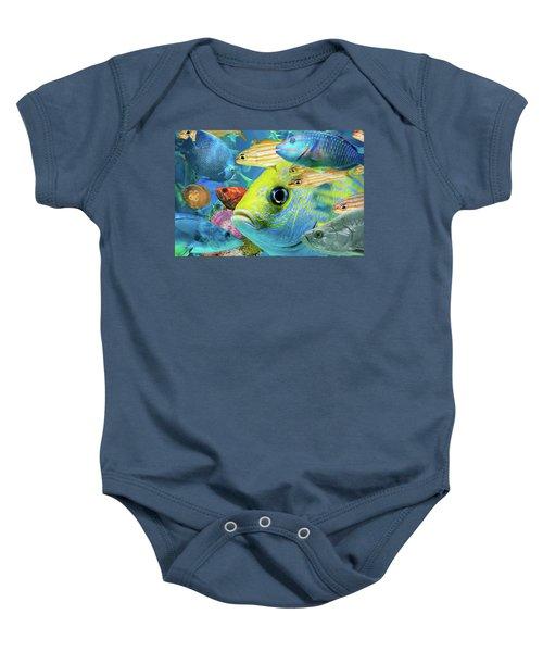 Fishy Collage 02 Baby Onesie