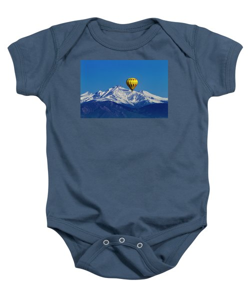 Floating Above The Mountains Baby Onesie