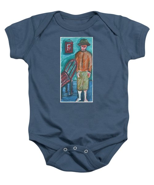 Girl With Chair Baby Onesie