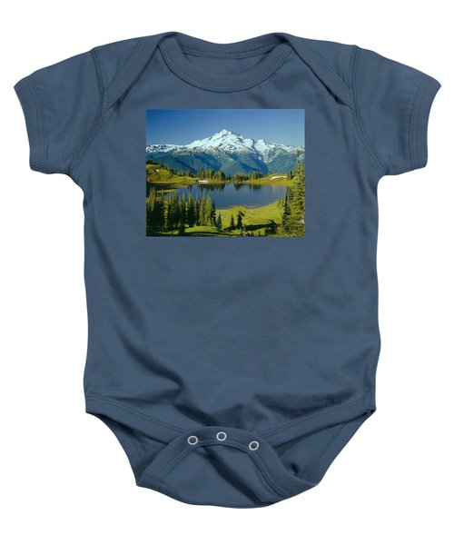 1m4422-glacier Peak, Wa  Baby Onesie