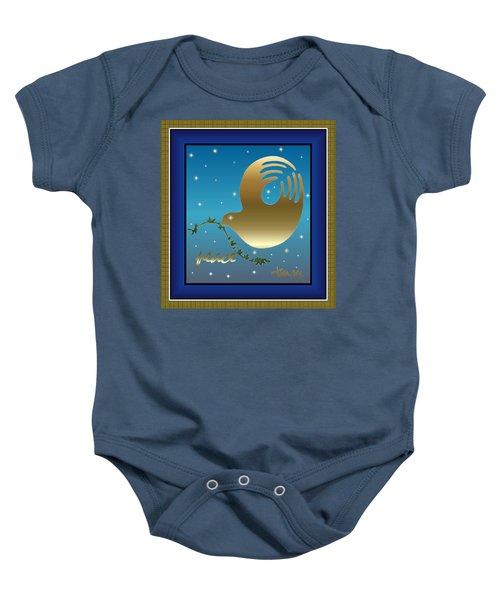 Gold Peace Dove Baby Onesie