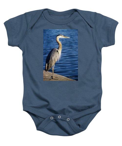 Great Blue Heron At Put-in-bay Baby Onesie