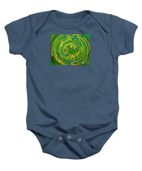Green Forest Swirl Baby Onesie
