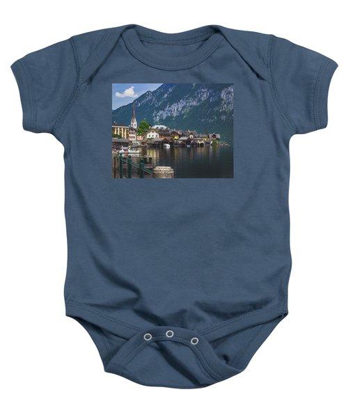Hallstatt Lakeside Village In Austria Baby Onesie