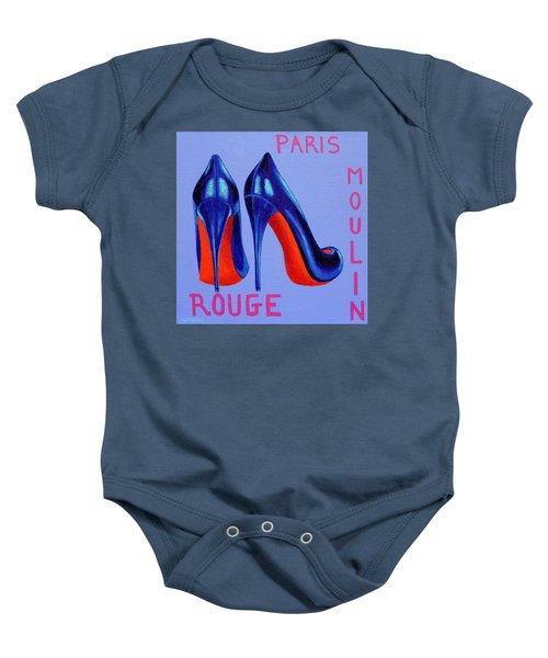 Irish Burlesque Shoes Baby Onesie by John  Nolan