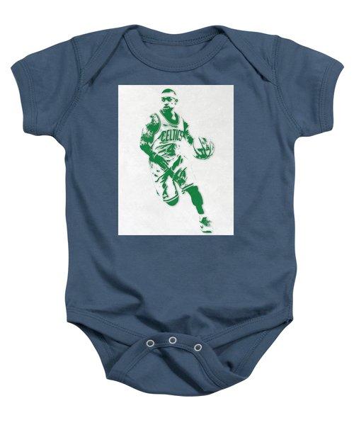 Isaiah Thomas Boston Celtics Pixel Art 2 Baby Onesie