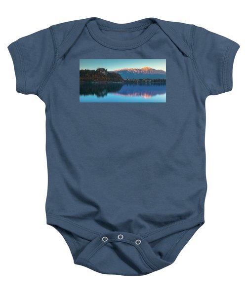 Lake Bled Panorama Baby Onesie