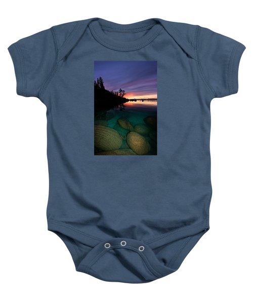 Lake Tahoe Sunset Portrait Baby Onesie