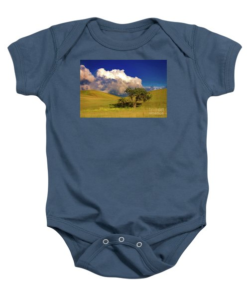 Lone Tree With Storm Clouds Baby Onesie