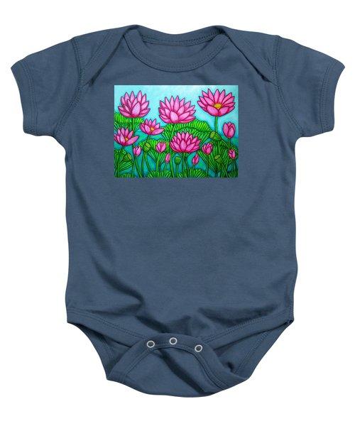 Lotus Bliss II Baby Onesie