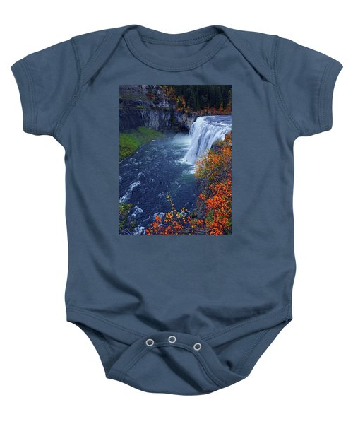Mesa Falls In The Fall Baby Onesie