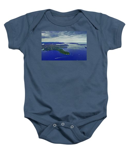Middle Head And Sydney Harbour Baby Onesie by Miroslava Jurcik