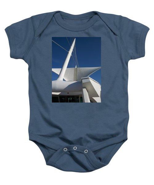 Milwaukee Art Museum Cropped Baby Onesie