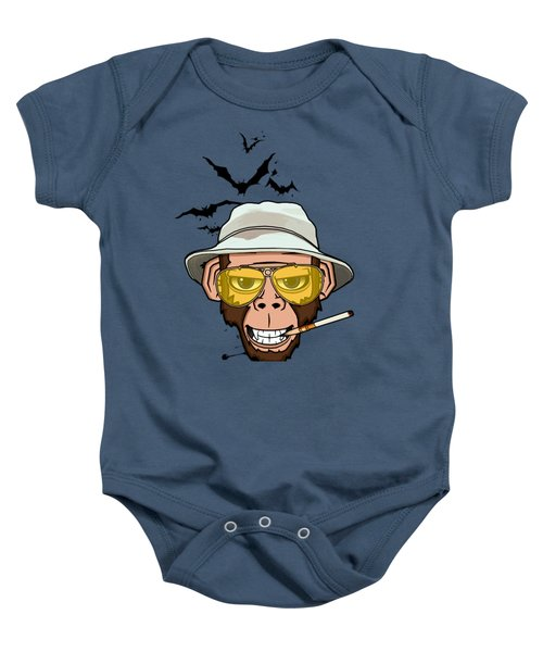 Monkey Business In Las Vegas Baby Onesie by Nicklas Gustafsson