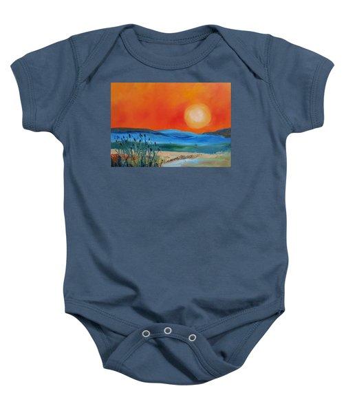 Montana Firery Sunset             49 Baby Onesie