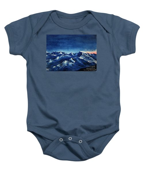 Mountain-4 Baby Onesie
