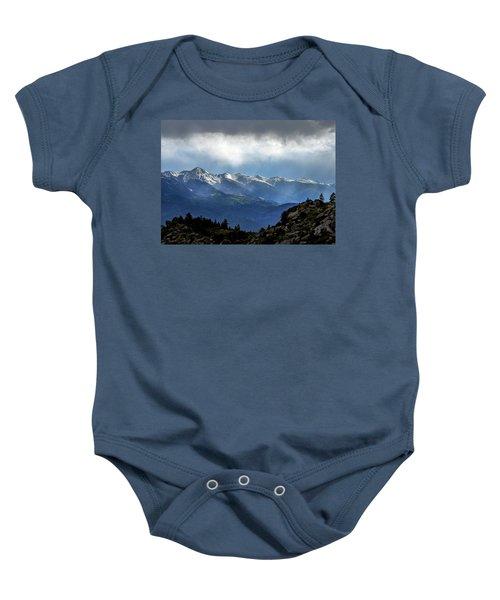 Mountain Moodiness Baby Onesie