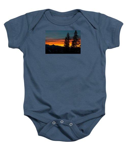 Mountain Sunset Baby Onesie