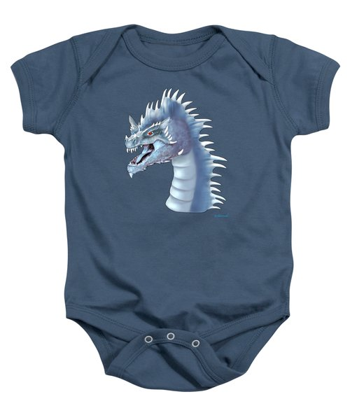 Mystical Ice Dragon Baby Onesie by Glenn Holbrook