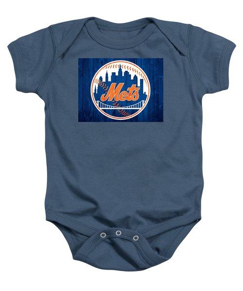 New York Mets Barn Door Baby Onesie