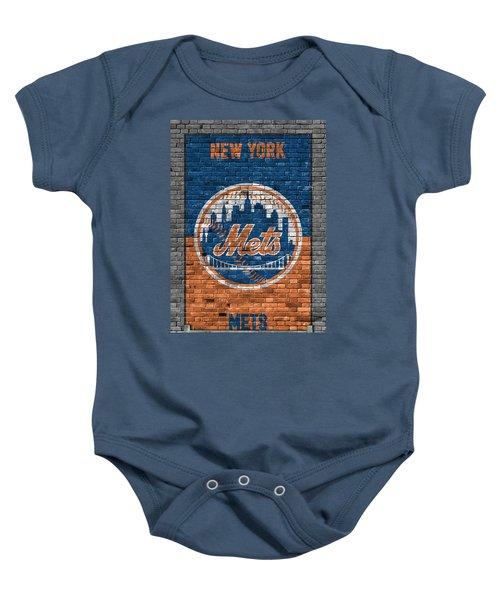 New York Mets Brick Wall Baby Onesie