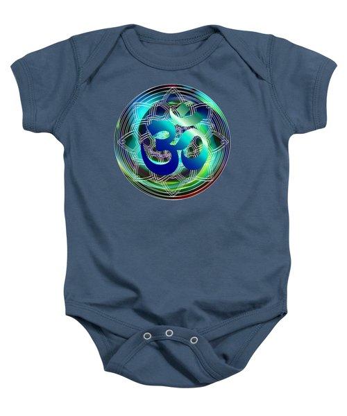 Om Vibration Ocean Baby Onesie