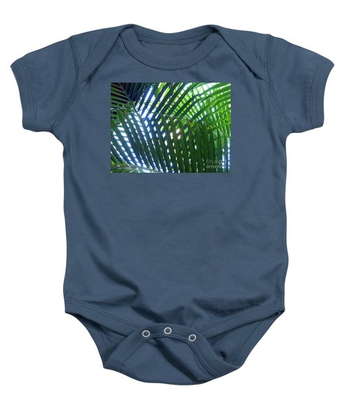 Patterned Palms Baby Onesie