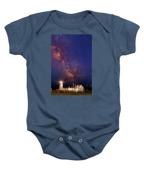Pemaquid Point Lighthouse And The Milky Way Baby Onesie