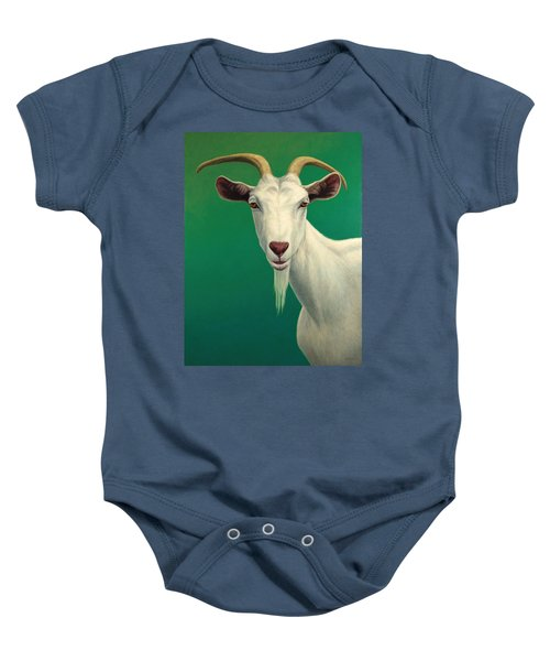 Portrait Of A Goat Baby Onesie by James W Johnson