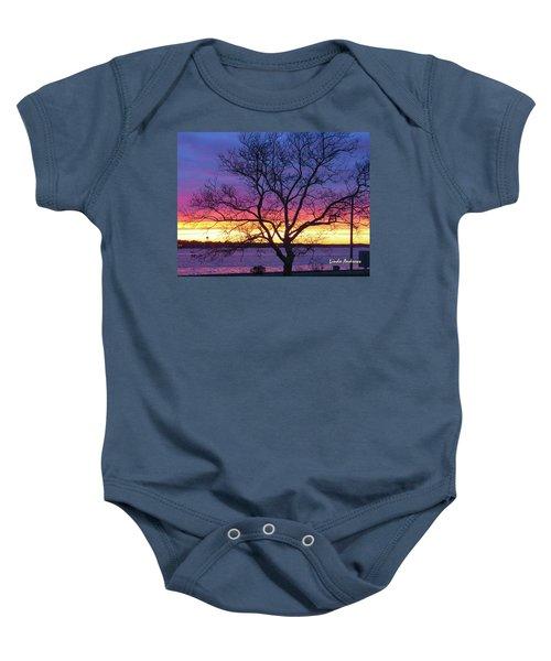 Rainbow Sunset Baby Onesie