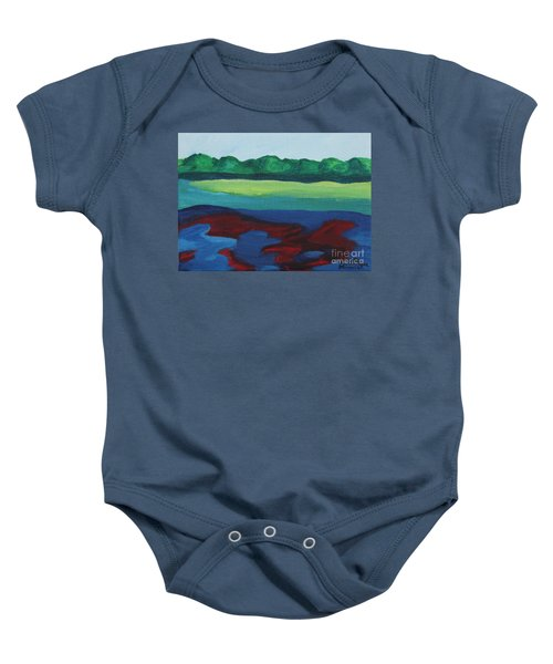 Red Lake Baby Onesie