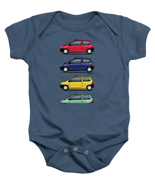 Renault Twingo 90s Colors Quartet Baby Onesie by Monkey Crisis On Mars