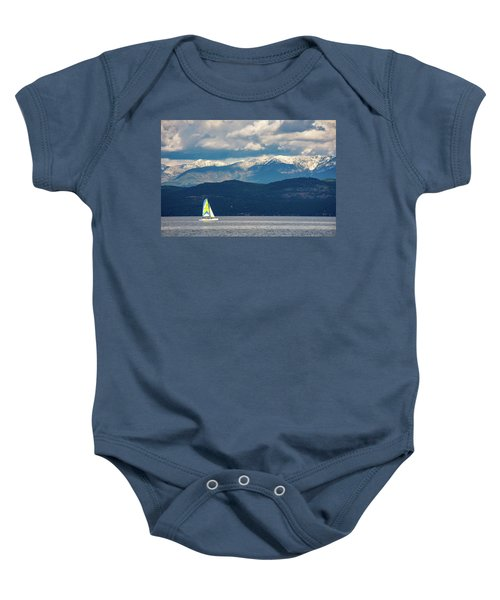 Sailing Flathead Lake Baby Onesie