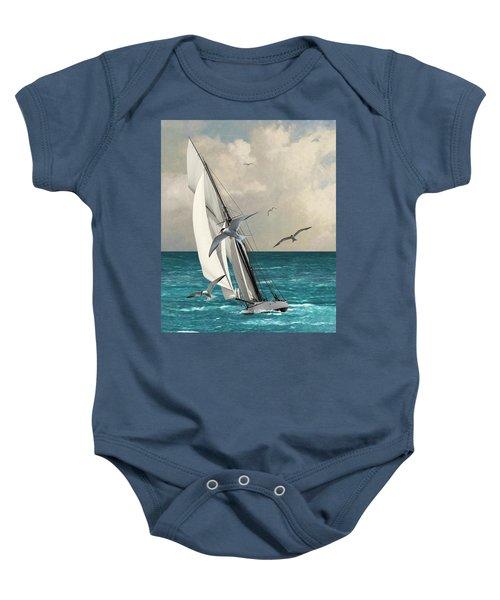 Sailing Southern Seas Baby Onesie